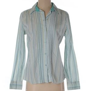 NY & Co button down cotton blouse size M